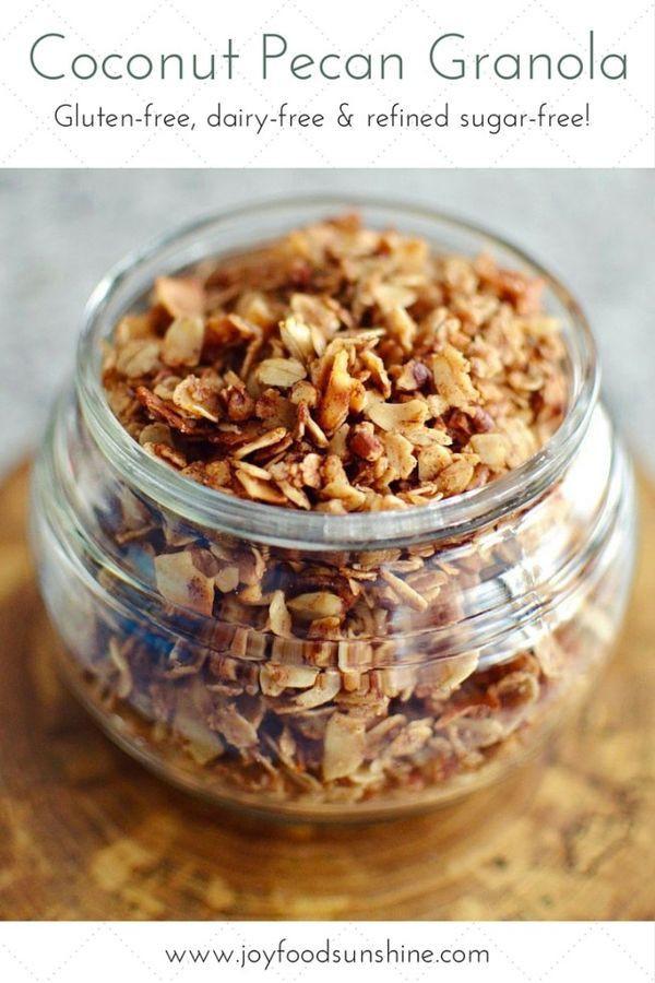 Healthy Shredded Coconut Recipes  Healthy Coconut Pecan Granola Recipe Oatmeal shredded