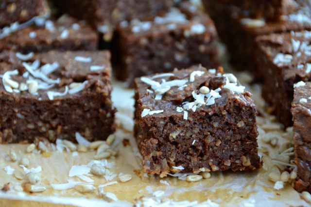 Healthy Shredded Coconut Recipes  Nut Free Paleo Brownies with Ground Sunflower Seeds