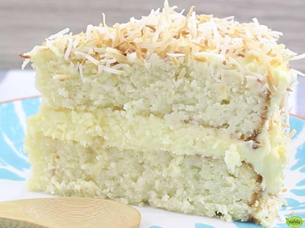 Healthy Shredded Coconut Recipes  Healthy Coconut Cake Natvia Natural Sweetener
