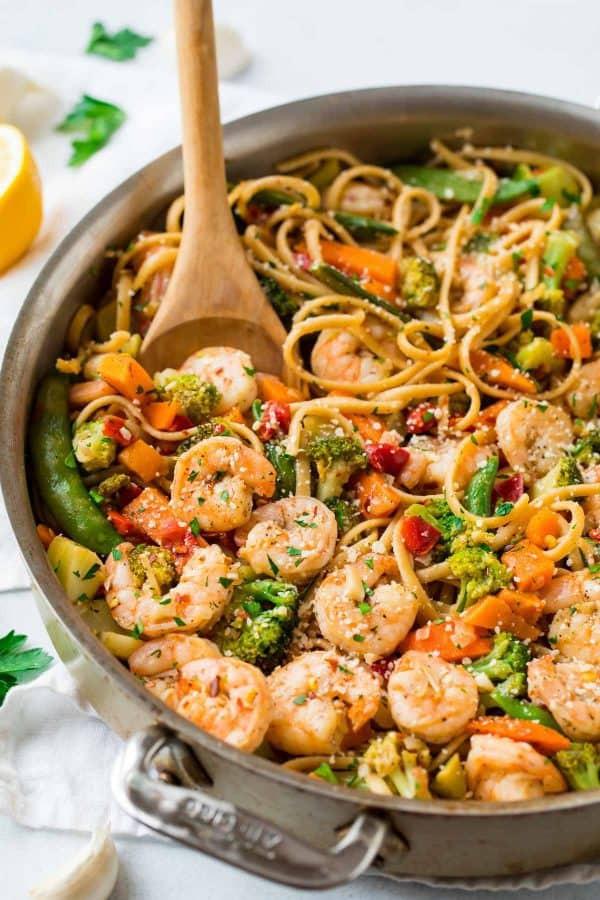 Healthy Shrimp And Pasta  Garlic Shrimp Pasta