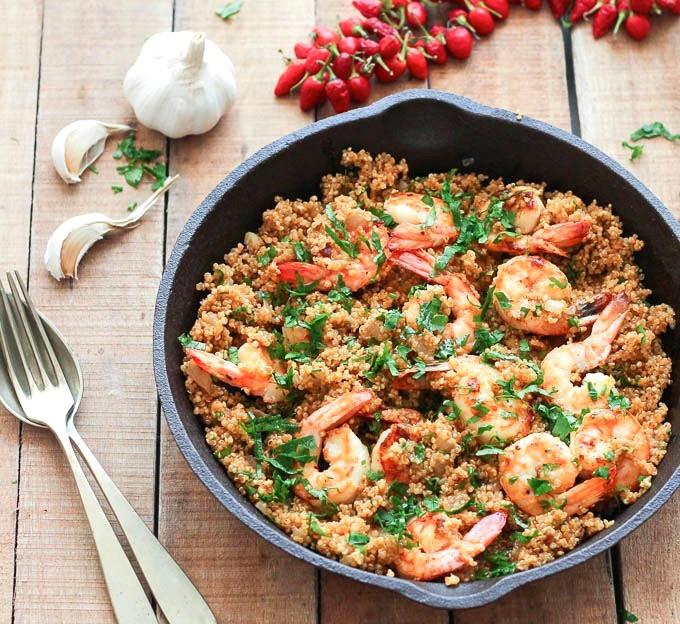 Healthy Shrimp And Quinoa Recipes  Garlic Shrimp and Quinoa As Easy As Apple Pie
