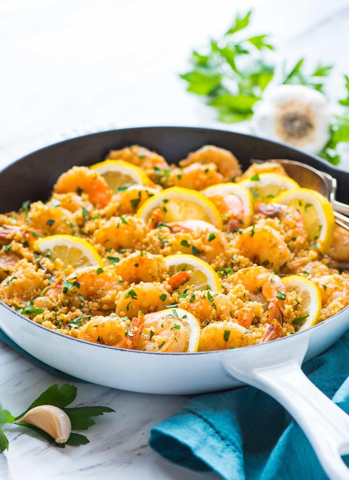 Healthy Shrimp And Quinoa Recipes  Garlic Shrimp with Quinoa