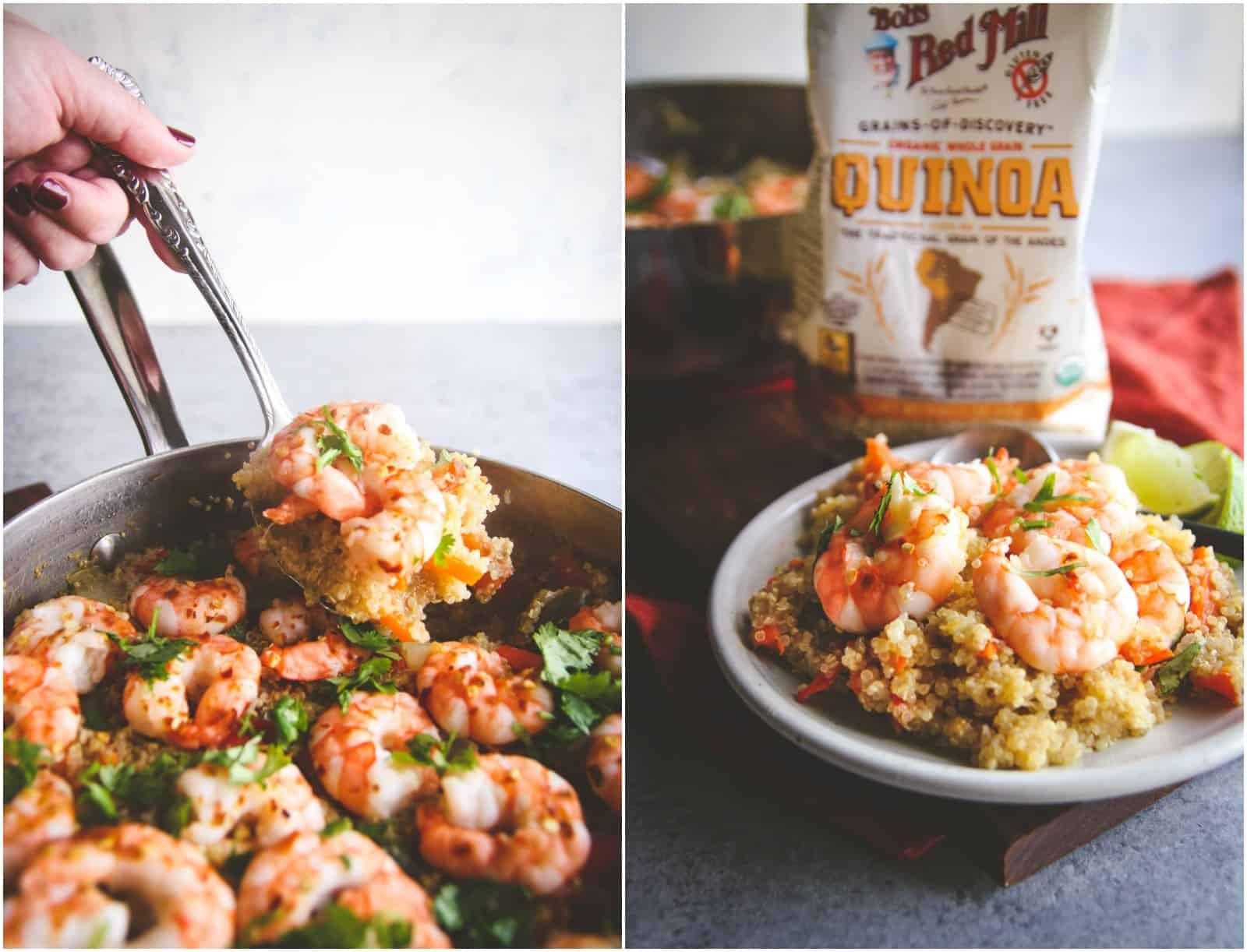 Healthy Shrimp And Quinoa Recipes  e Pot Thai Shrimp and Quinoa Sweetphi