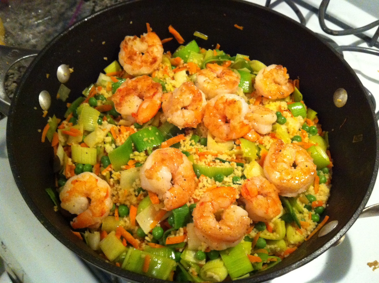 Healthy Shrimp Dinners  Healthy weekday dinner Skillet Shrimp and Couscous