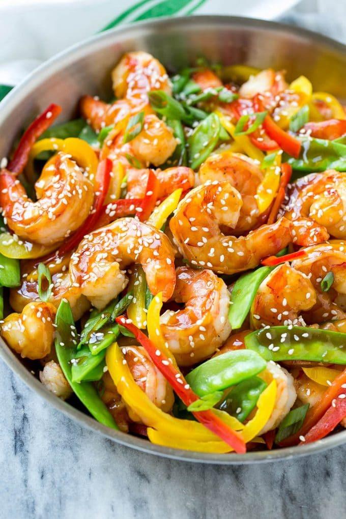 Healthy Shrimp Dinners  Teriyaki Shrimp Stir Fry Dinner at the Zoo