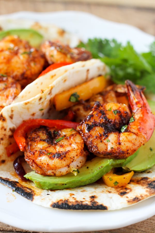 Healthy Shrimp Fajitas  healthy shrimp fajitas