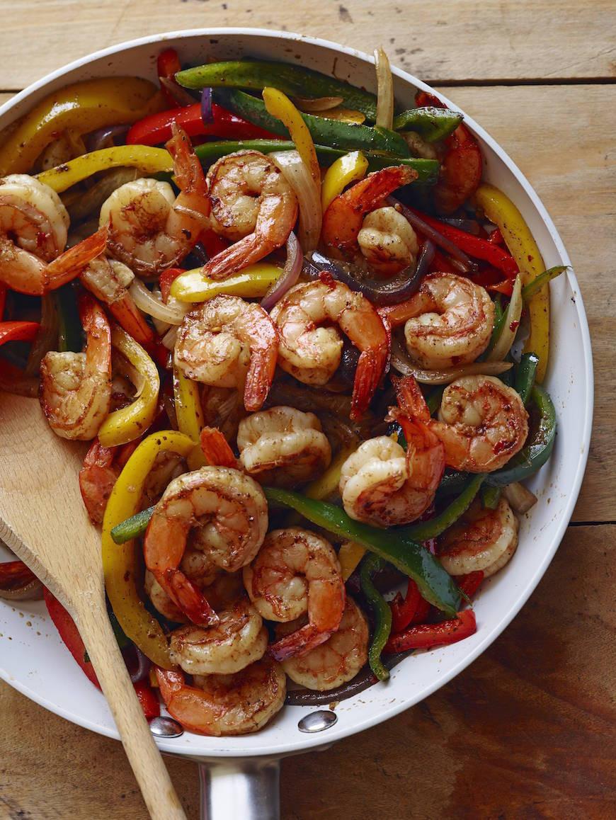 Healthy Shrimp Fajitas  Shrimp Fajitas What s Gaby Cooking