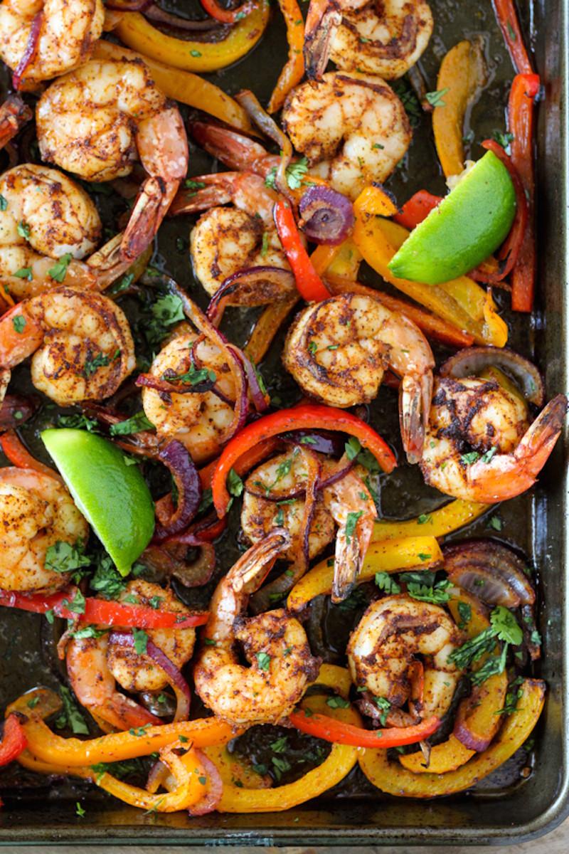 Healthy Shrimp Fajitas  15 Healthy Dinner Ideas