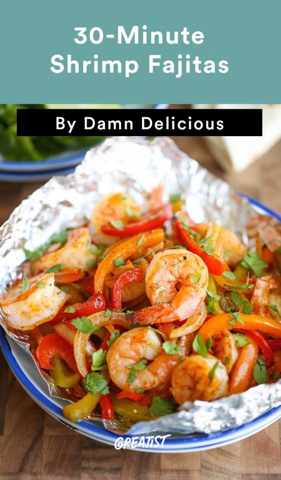 Healthy Shrimp Fajitas  Healthy Dinner Ideas in 30 Minutes or Less