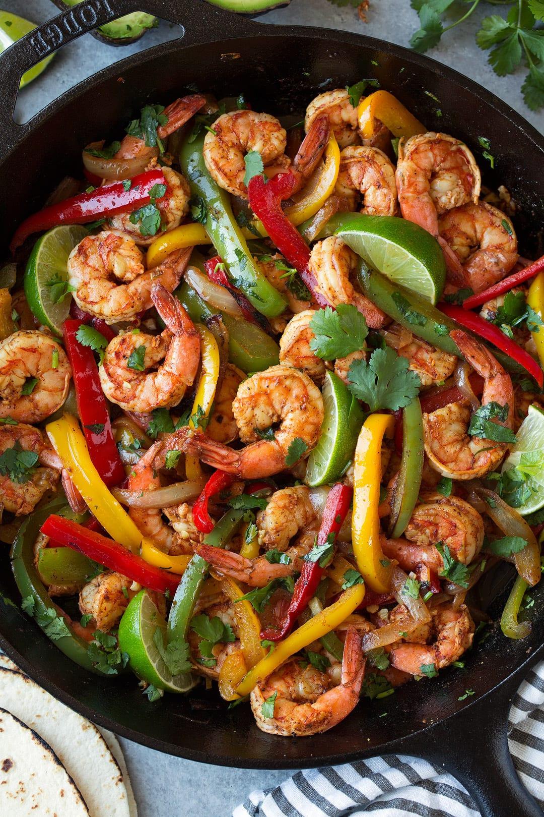 Healthy Shrimp Fajitas  Shrimp Fajitas Easy 25 Minute Recipe Cooking Classy
