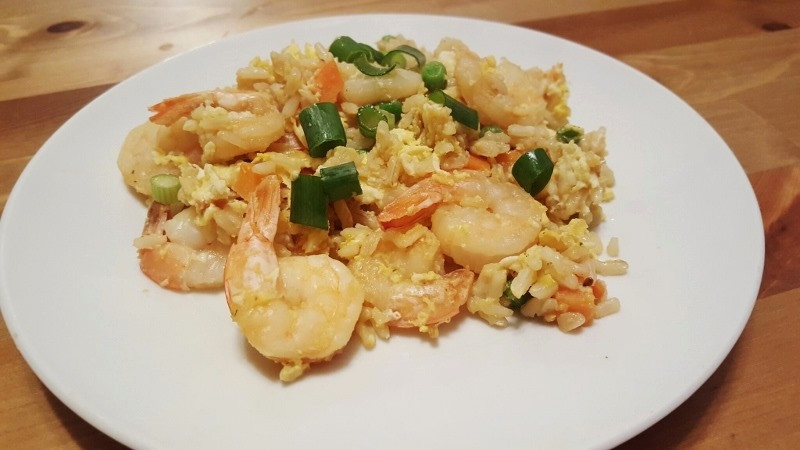 Healthy Shrimp Fried Rice  Speed Up Treadmill Workout Run Eat Repeat