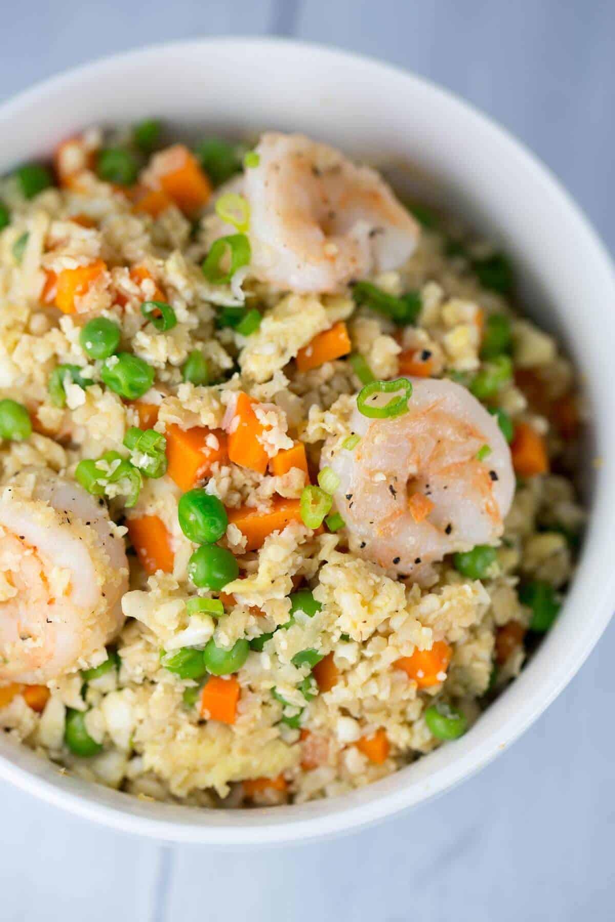 Healthy Shrimp Fried Rice  Healthy Shrimp Fried Cauliflower Rice Bowl Jessica Gavin