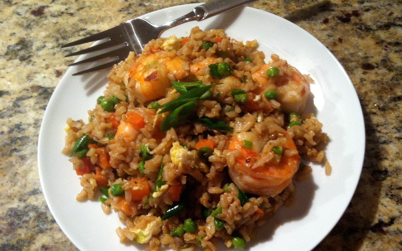 Healthy Shrimp Fried Rice  [RECIPE] Shrimp Fried Brown Rice EBONY