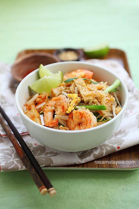 Healthy Shrimp Pad Thai Recipe  Shrimp Pad Thai on the Lighter Side
