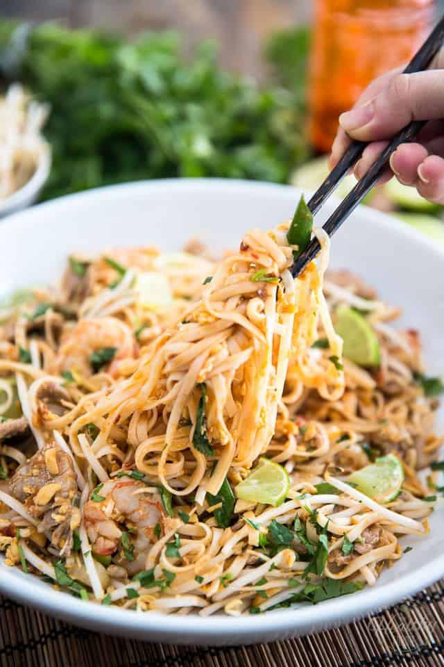 Healthy Shrimp Pad Thai Recipe  Pork and Shrimp Pad Thai • The Healthy Foo