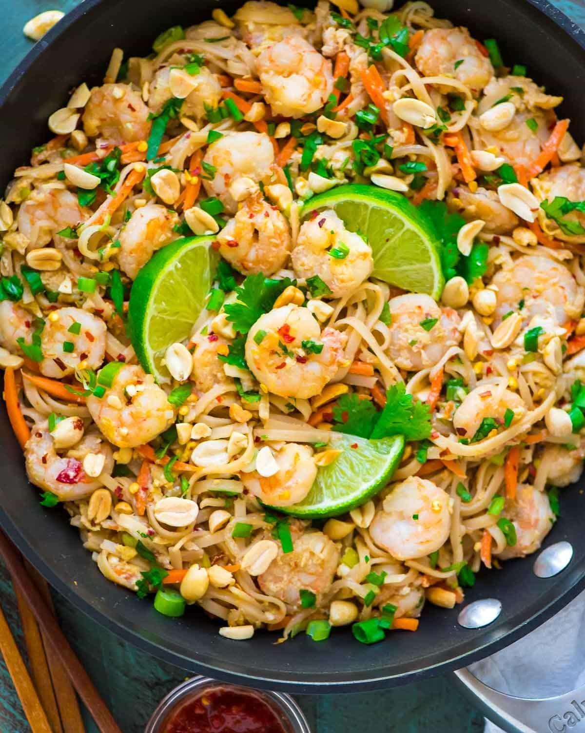 Healthy Shrimp Pad Thai Recipe the top 20 Ideas About Healthy Shrimp Pad Thai