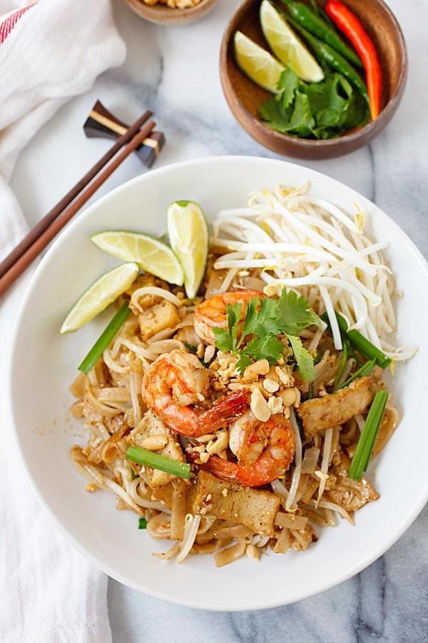 Healthy Shrimp Pad Thai Recipe  Shrimp Pad Thai Recipe Homemade & Healthy Rasa Malaysia