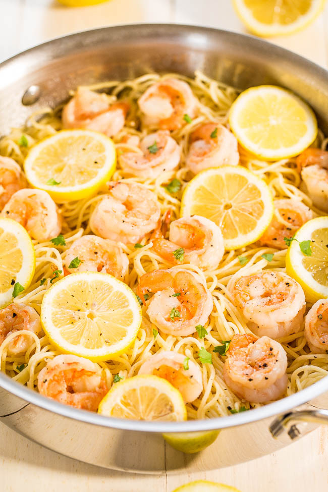 Healthy Shrimp Pasta Recipes Easy  Garlic Shrimp Pasta 15 Minute Dinner