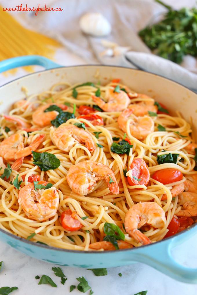 Healthy Shrimp Pasta Recipes Easy  Easy Healthy Shrimp Scampi The Busy Baker