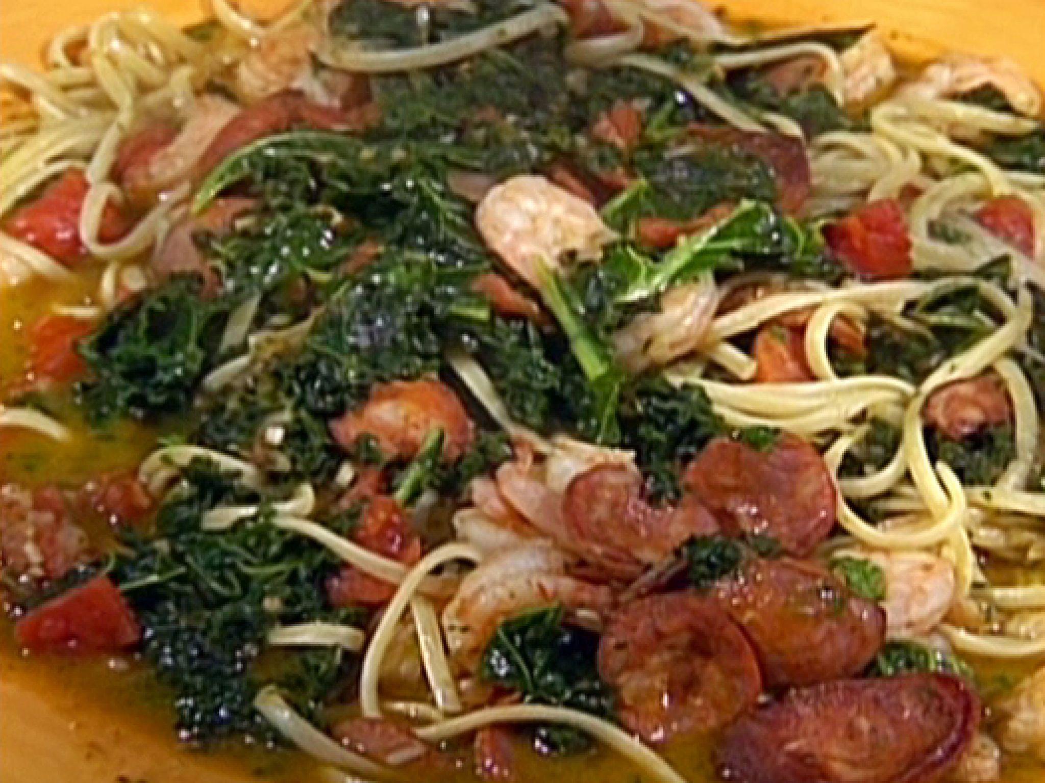 Healthy Shrimp Pasta Recipes Food Network  Emeril s Portuguese Shrimp and Pasta recipe from Emeril