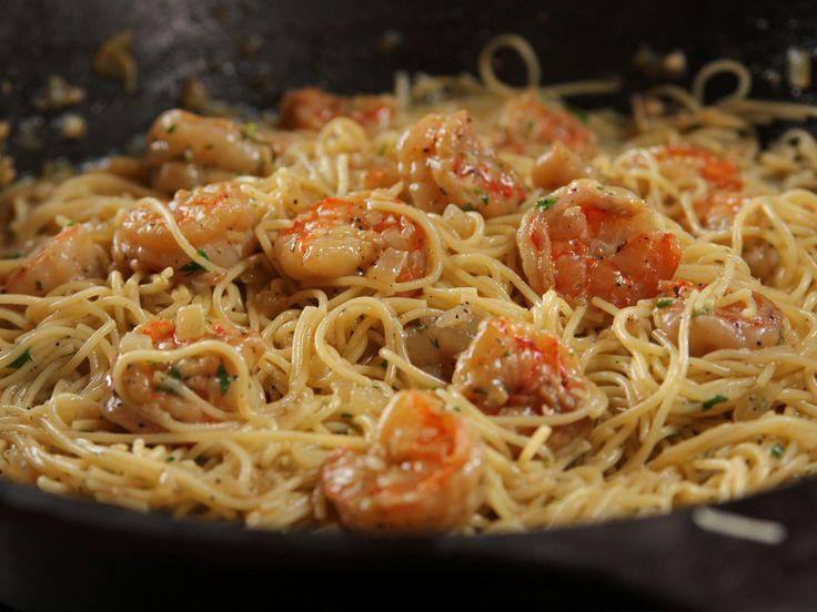 Healthy Shrimp Pasta Recipes Food Network  how to make thick shrimp scampi sauce