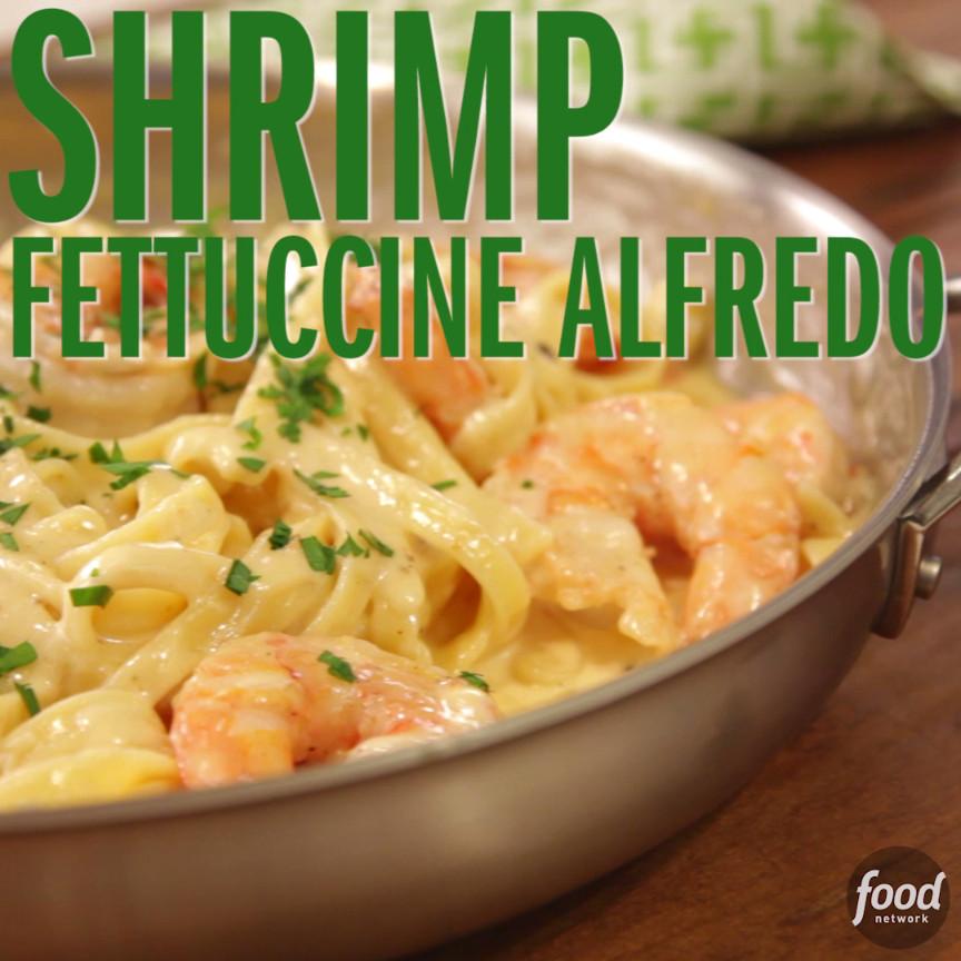 Healthy Shrimp Pasta Recipes Food Network  Shrimp Fettucine Alfredo hits the spot every time