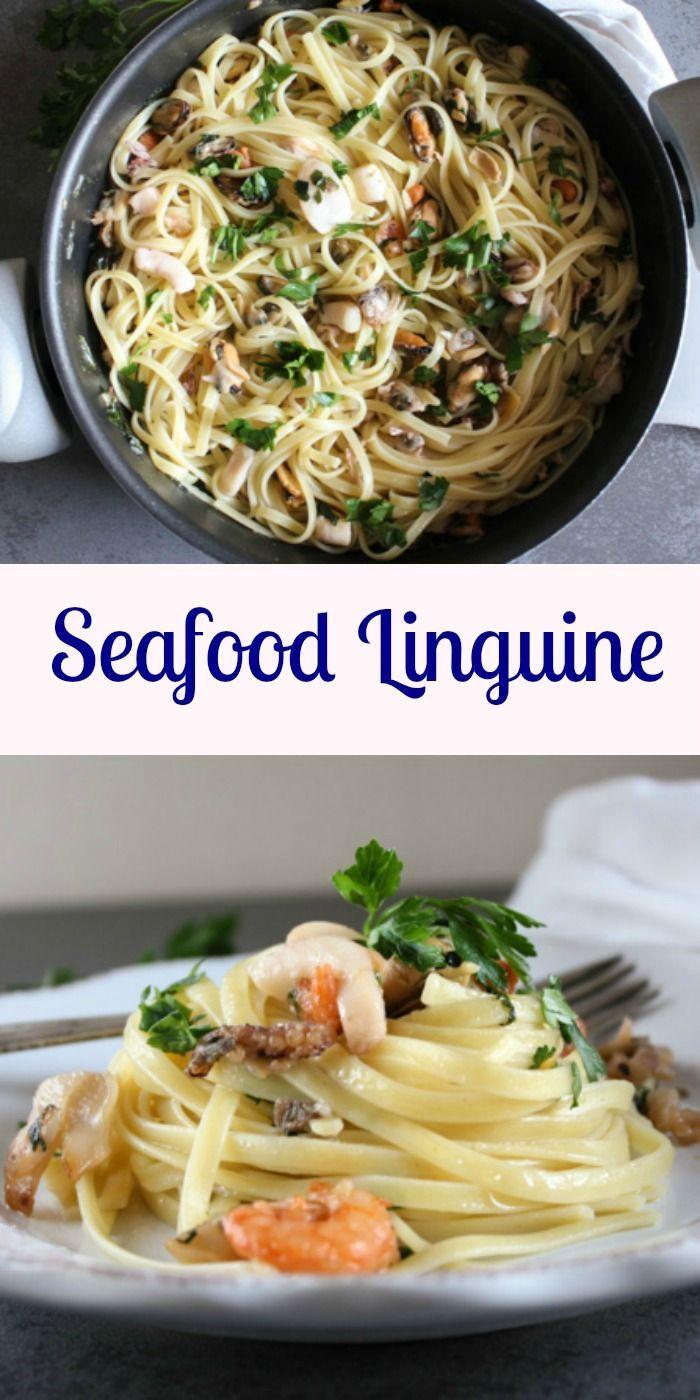 Healthy Shrimp Pasta Recipes Food Network  Seafood Linguine an easy healthy Italian Pasta recipe a