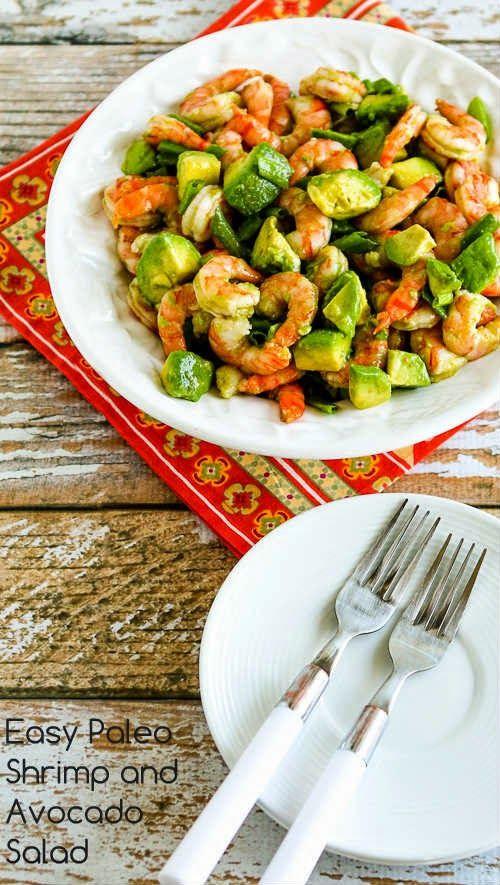 Healthy Shrimp Recipes Low Carb  Easy Paleo Shrimp and Avocado Salad