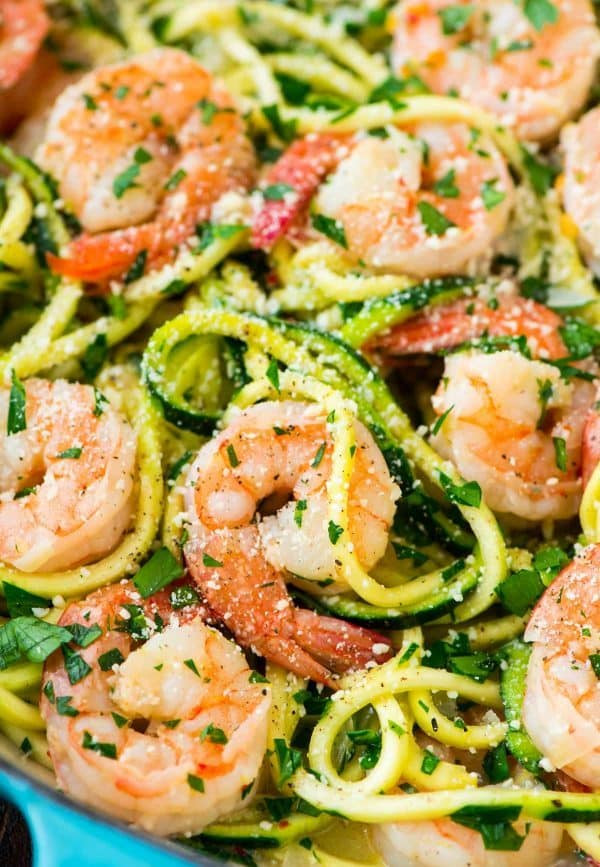 Healthy Shrimp Recipes Low Carb  Healthy Shrimp Scampi with Zucchini Noodles
