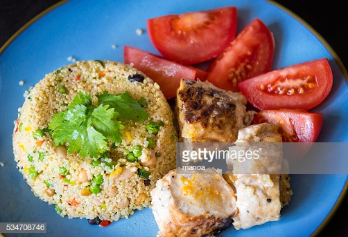 Healthy Side Dishes For Chicken  Healthy Eating Chickentomato Salad And Quinoa As Side Dish
