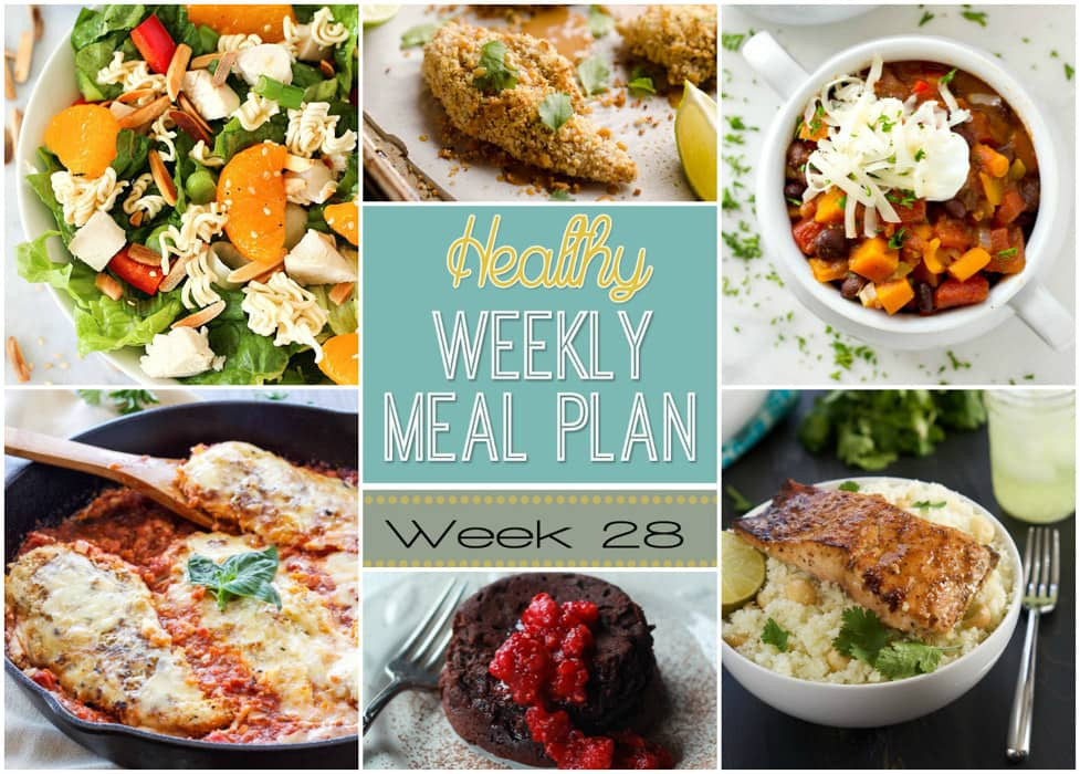 Healthy Side Dishes For Dinner  Healthy Weekly Meal Plan 28 Yummy Healthy Easy