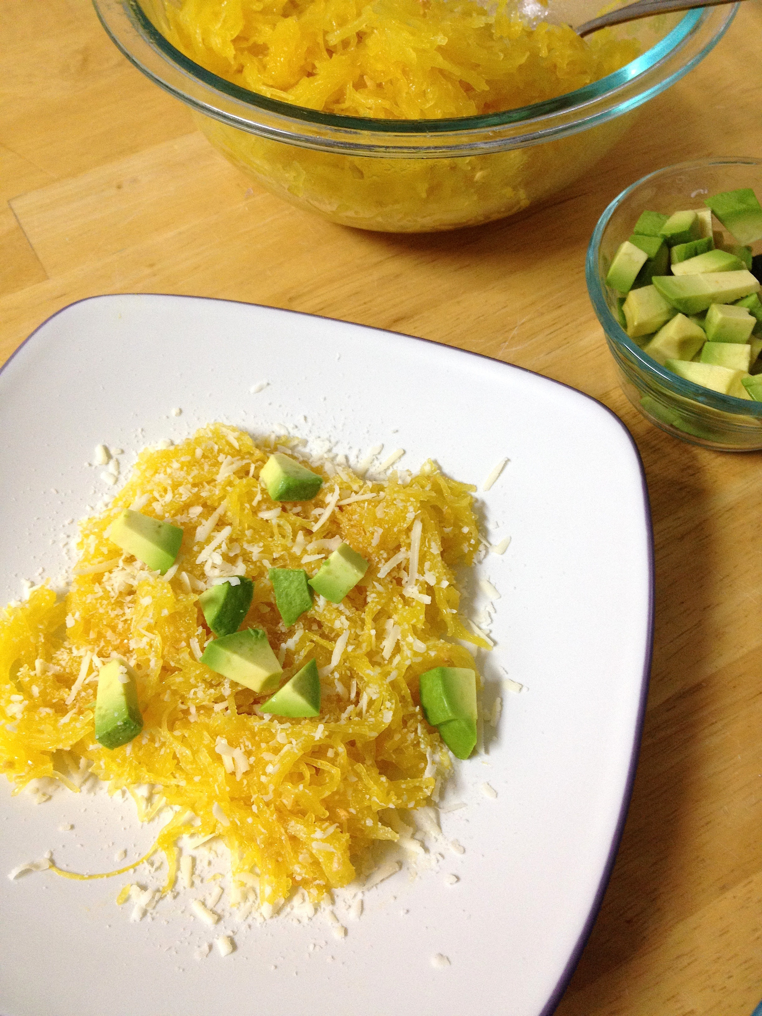 Healthy Side Dishes For Dinner  Spaghetti Squash with Avocado and Asiago