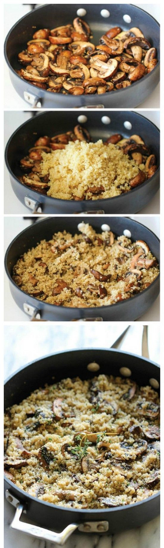 Healthy Side Dishes For Dinner  Garlic Mushroom Quinoa