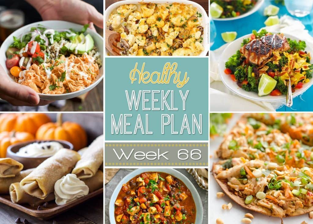 Healthy Side Dishes For Dinner  Healthy Weekly Meal Plan 66 Yummy Healthy Easy