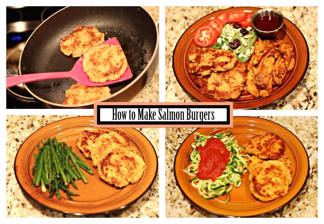 Healthy Side Dishes For Hamburgers  How to Make Salmon Burgers Easy Recipe With Healthy