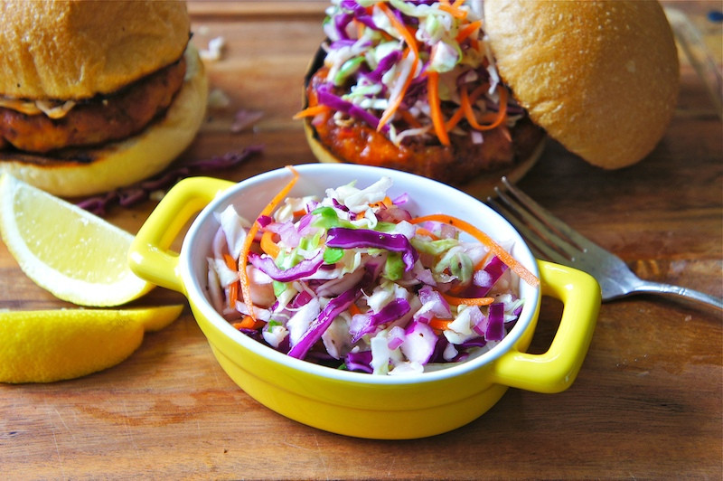 Healthy Side Dishes For Hamburgers  Seasaltwithfood Sweet And Tangy Coleslaw