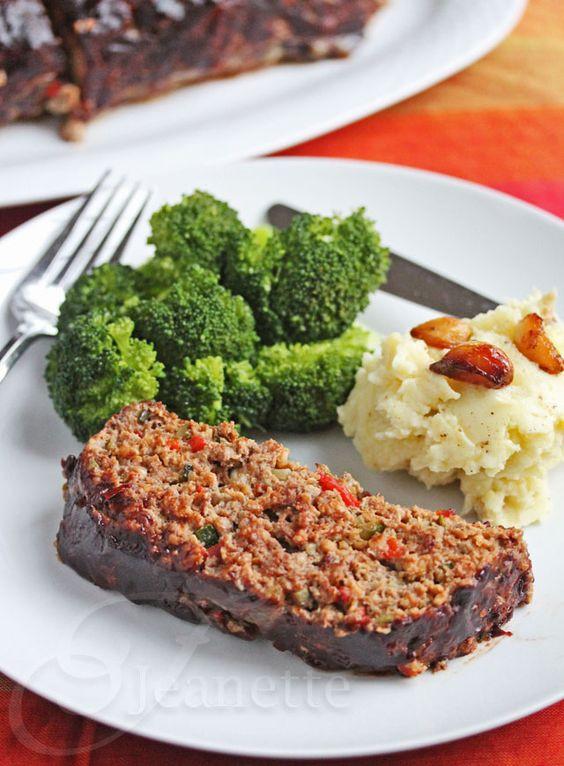 Healthy Side Dishes For Meatloaf  Balsamic Glazed Roasted Ve able Meatloaf