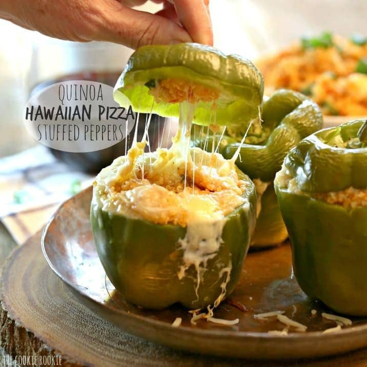 Healthy Side Dishes For Pizza  Quinoa Hawaiian Pizza Stuffed Peppers