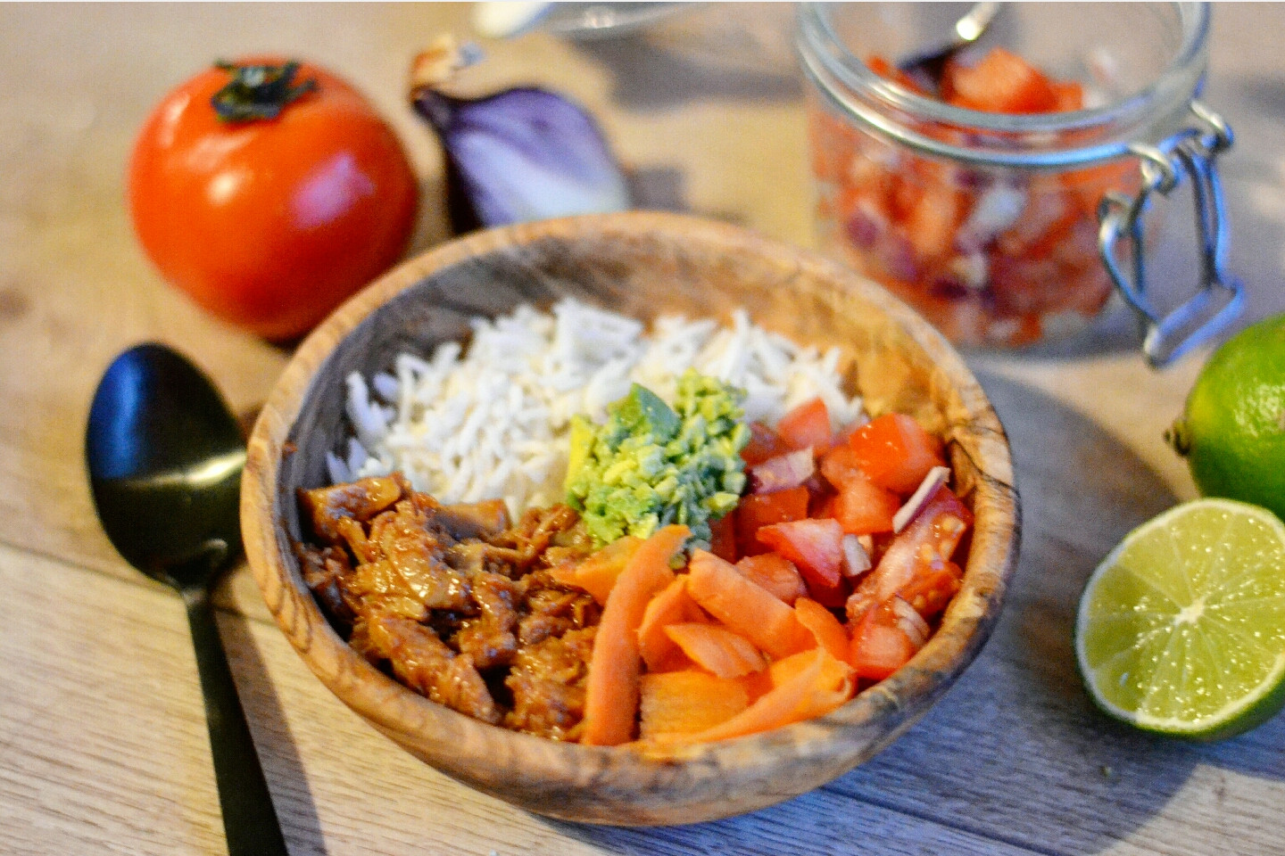 Healthy Side Dishes For Pulled Pork  Vegan pulled pork Mexican style Anne Travel Foo