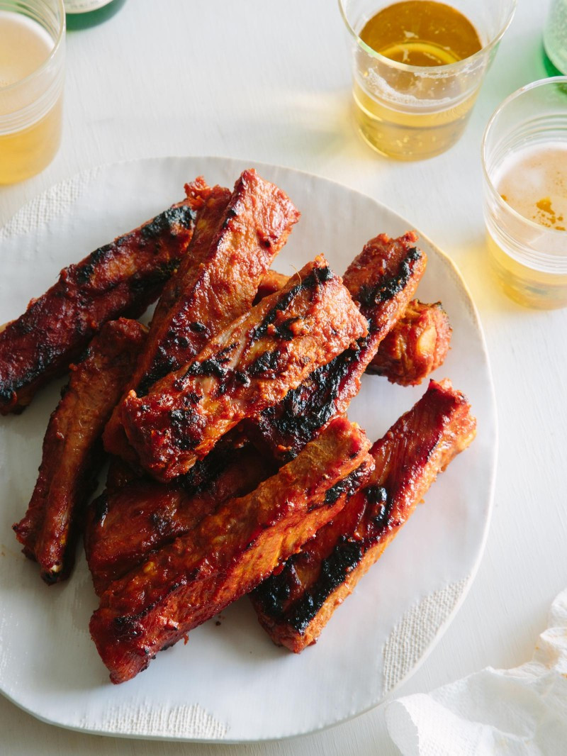 Healthy Side Dishes For Ribs  Spicy Marinated and Grilled Spare Ribs