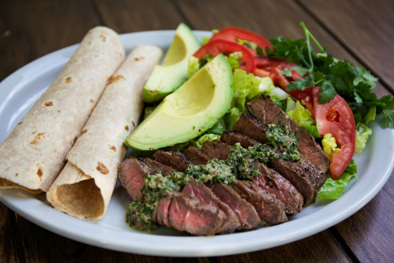 Healthy Side Dishes For Steak  Spicy Chimichurri Steak — My Healthy Dish