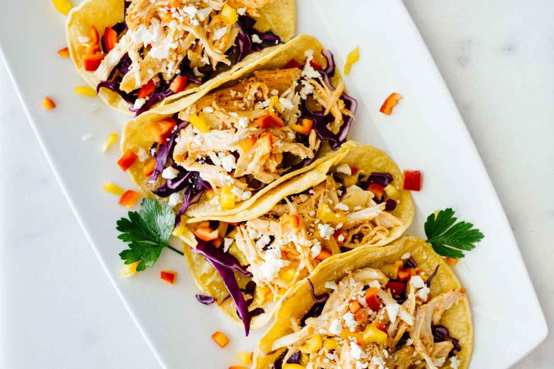 Healthy Side Dishes For Tacos  Healthy Sriracha Shredded Chicken Tacos Jar Lemons