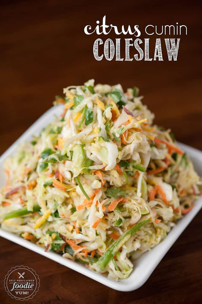 Healthy Side Dishes For Tacos  Citrus Cumin Coleslaw
