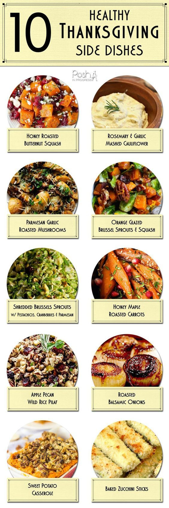 Healthy Side Dishes For Turkey  TASTY TUESDAY 10 Healthy Thanksgiving Side Dishes