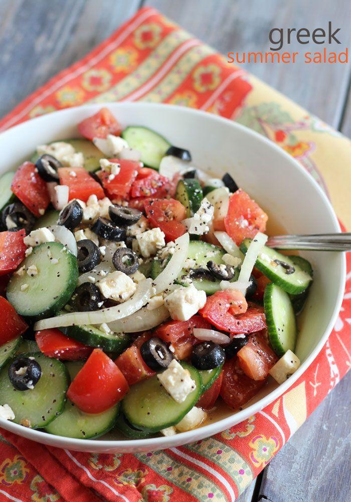 Healthy Side Salads  Greek Summer Salad Recipe