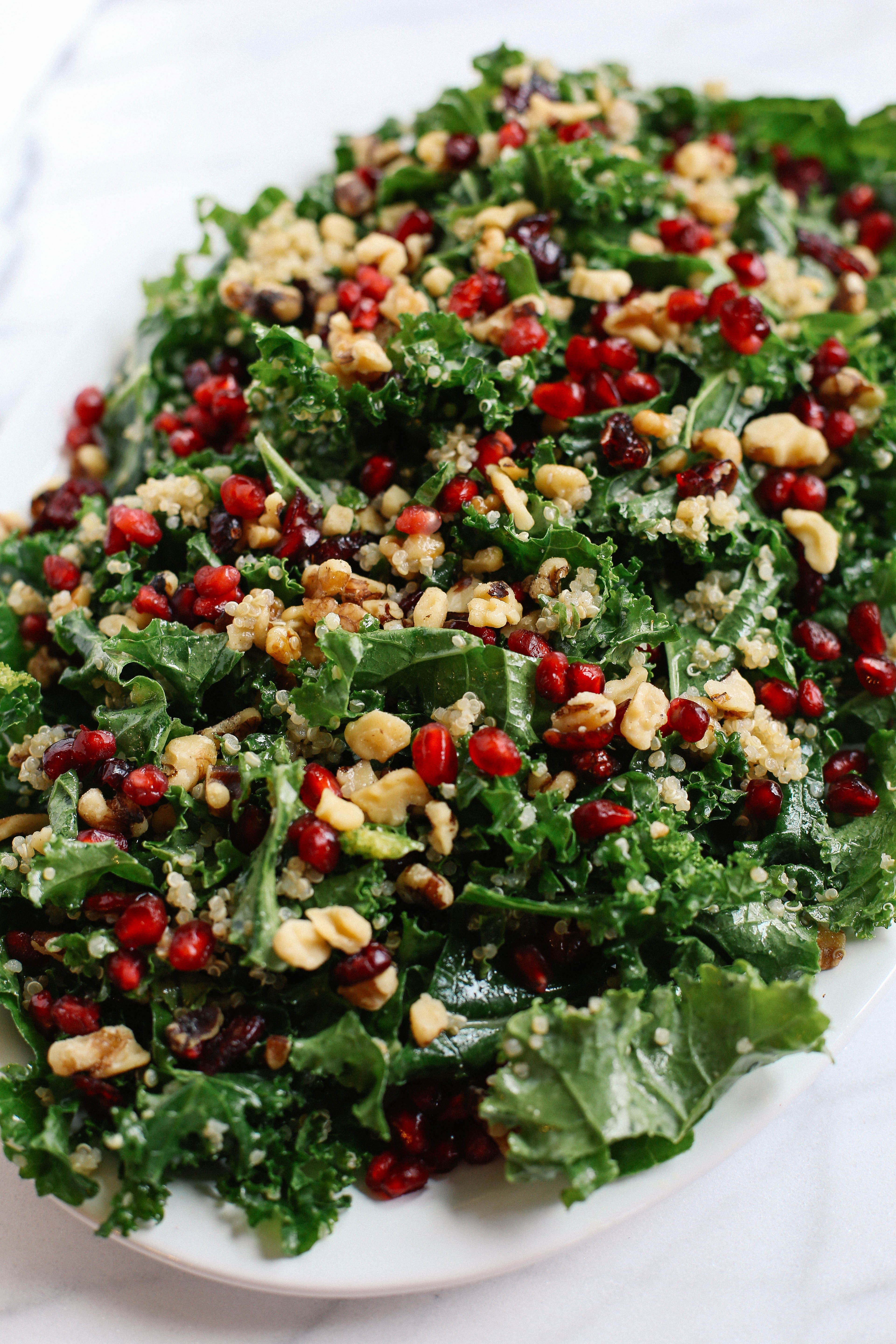 Healthy Side Salads  Winter Kale and Quinoa Salad Eat Yourself Skinny