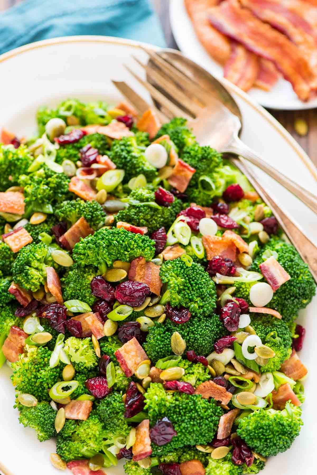 Healthy Side Salads  Broccoli Cranberry Salad