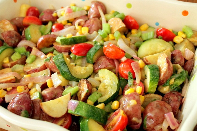 Healthy Side Salads  Healthy Roasted Potato and Ve able Salad