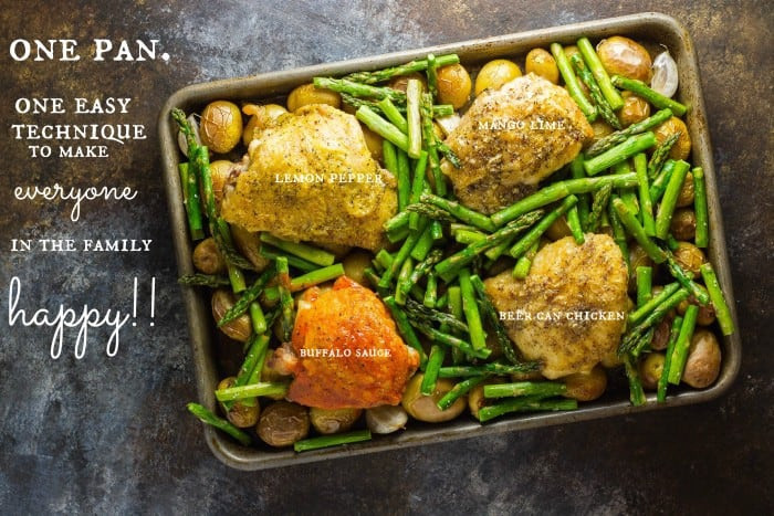 Healthy Sides For Baked Chicken  Oven Baked Chicken Thighs a one pan meal • The Wicked Noodle