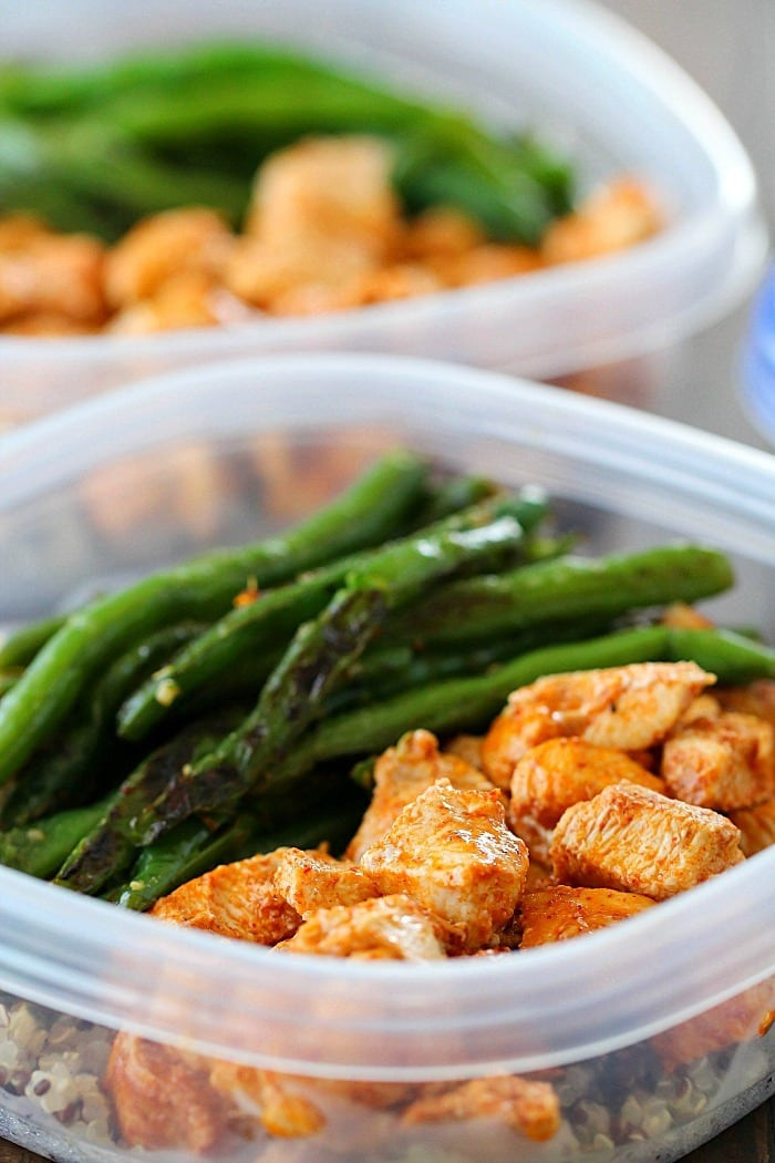 Healthy Sides For Baked Chicken  Meal Prep Baked Lime Chicken Bowls Yummy Healthy Easy